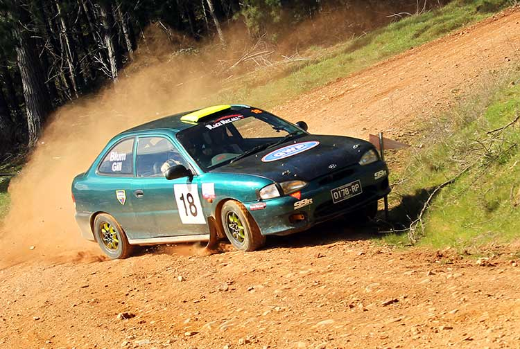 Victoria's Hyundai Excel rally series has been popular for many years. Photo: John Doutch