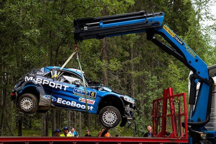 The RallySafe unit will alert rally organisers in the event of a serious accident.
