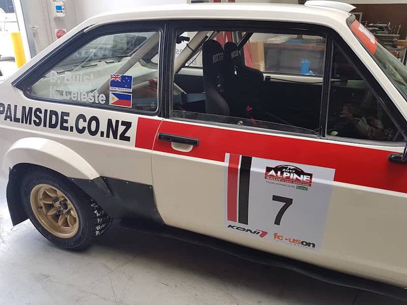 Deane Buist Ford Escort RS1800 Alpine Rally