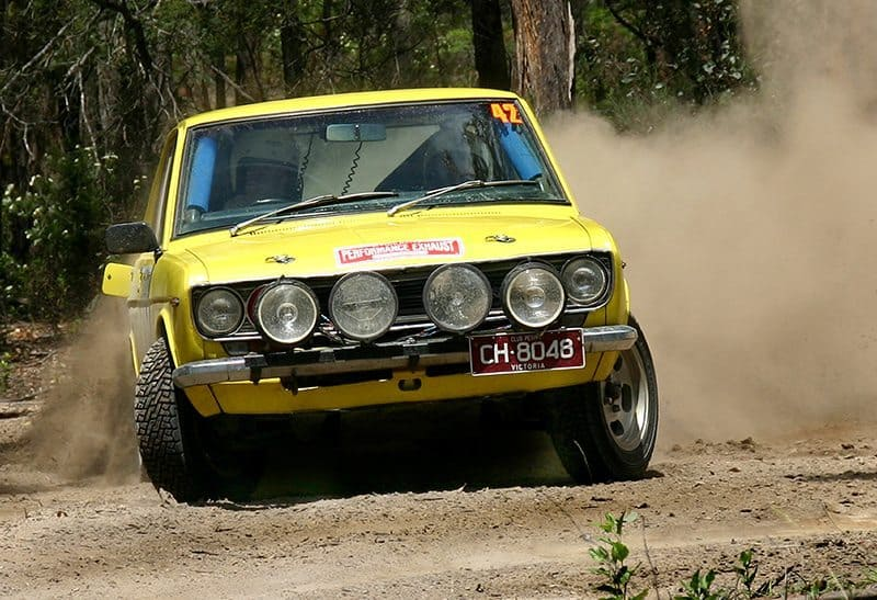 Datsun 1600 competing in Victoria