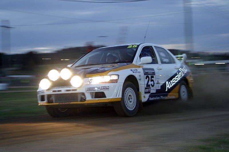 Rallying at night