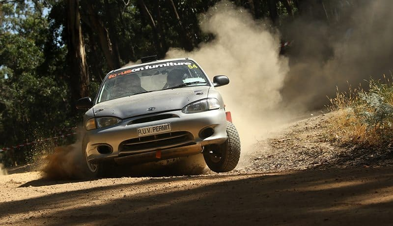Hyundai Excel rally car