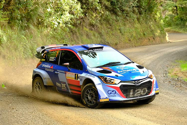 Hayden Paddon will contest the Otago Rally in his Hyundai i20 AP4+. Photo: Geoff Ridder