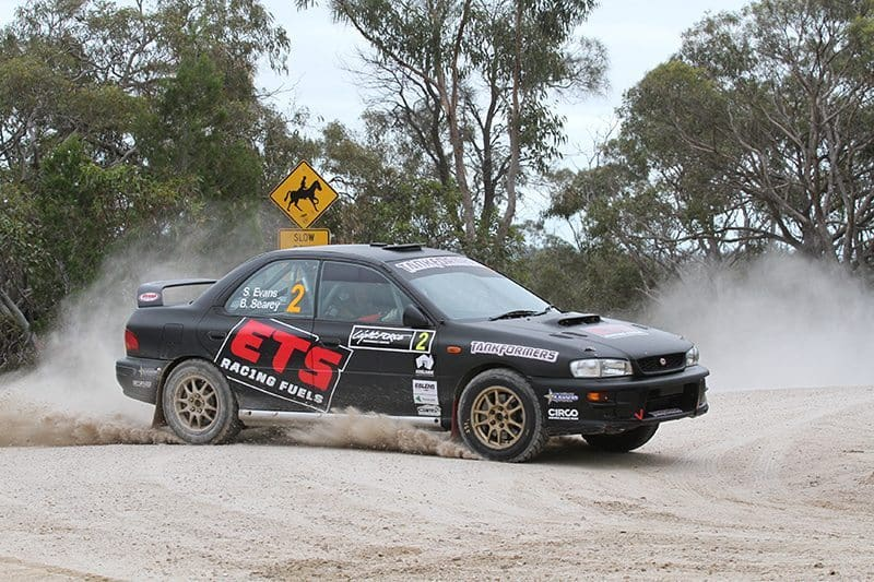 Searcy sat beside Simon Evans in the 2016 Australian Rally Championship. Photo: Peter Whitten