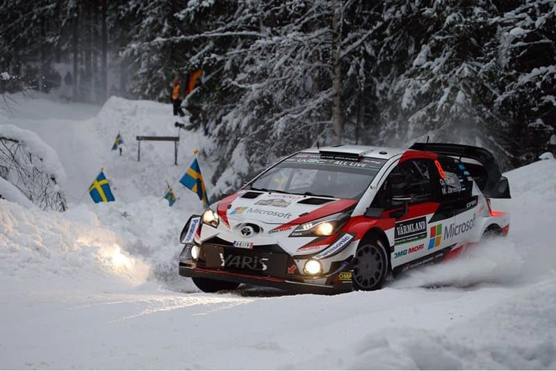 Ott Tanak leads Rally Sweden after stage one.