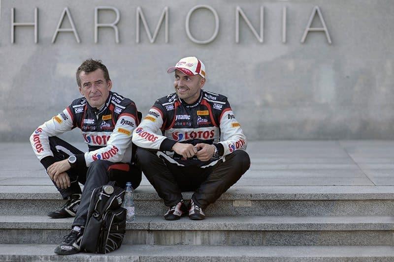 Kajetan Kajetanowicz and codriver Jaroslav Baran