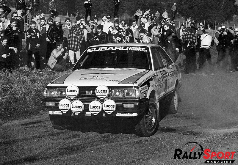 Possum Bourne competing in Rally New Zealand in an early Subaru Leone. Photo courtesy David Thomson
