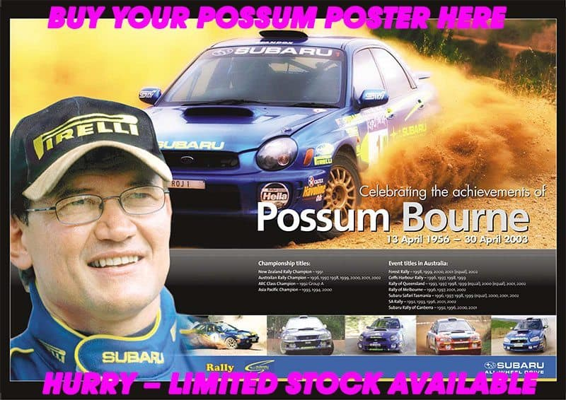 Possum Bourne rally poster
