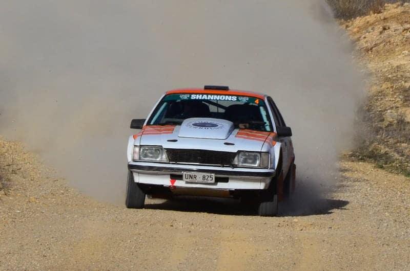 Twice Australian Rally Champion Barry Lowe finished 4th both days. Photo: John Lemm