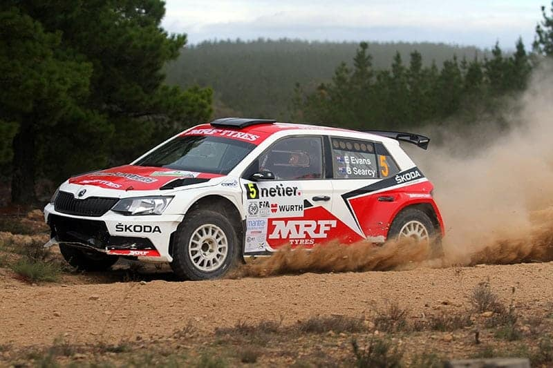 Eli Evans has quickly come to grips with the Skoda R5 in the Australian Championship. Photo: Luke Whitten